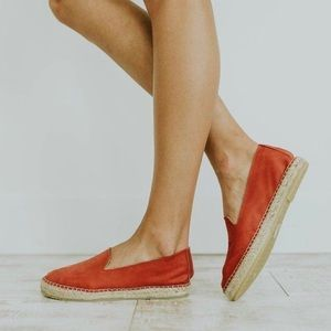 Free People Laurel Canyon Espadrille in Red